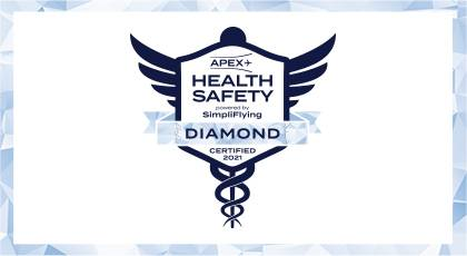 We were awarded APEX Diamond status within the scope of COVID-19 hygiene measures.